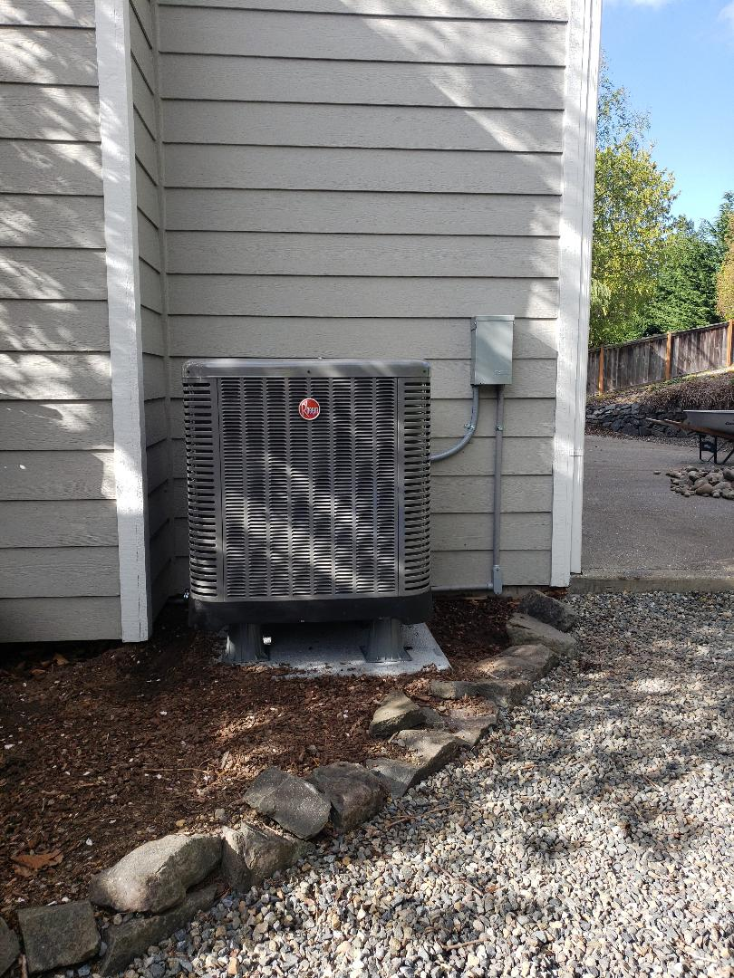 Gig Harbor, WA - Installed 80 percent gas furnace with outdoor heat pump.
