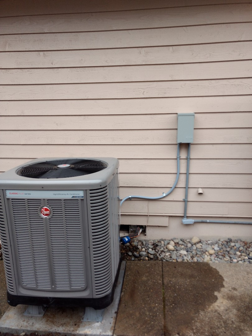 Federal Way, WA - Rheem heating and cooling system installation