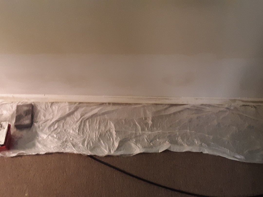 Tacoma, WA - Patching drywall after Mitsubishi ductless minisplits are installed