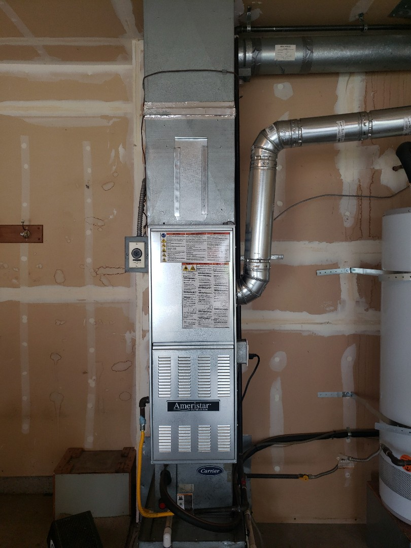Puyallup, WA - Installed new 80 percent furnace.
