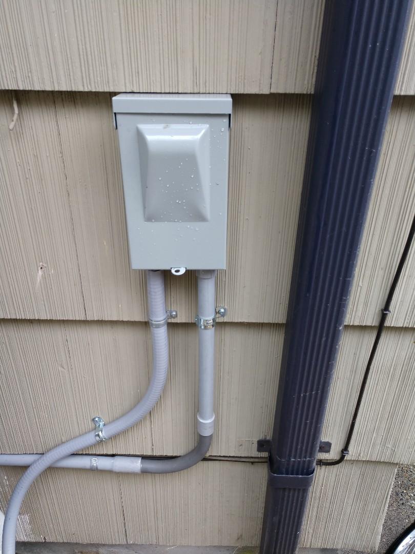 Tacoma, WA - New circuit ran for Mitsubishi heat pump