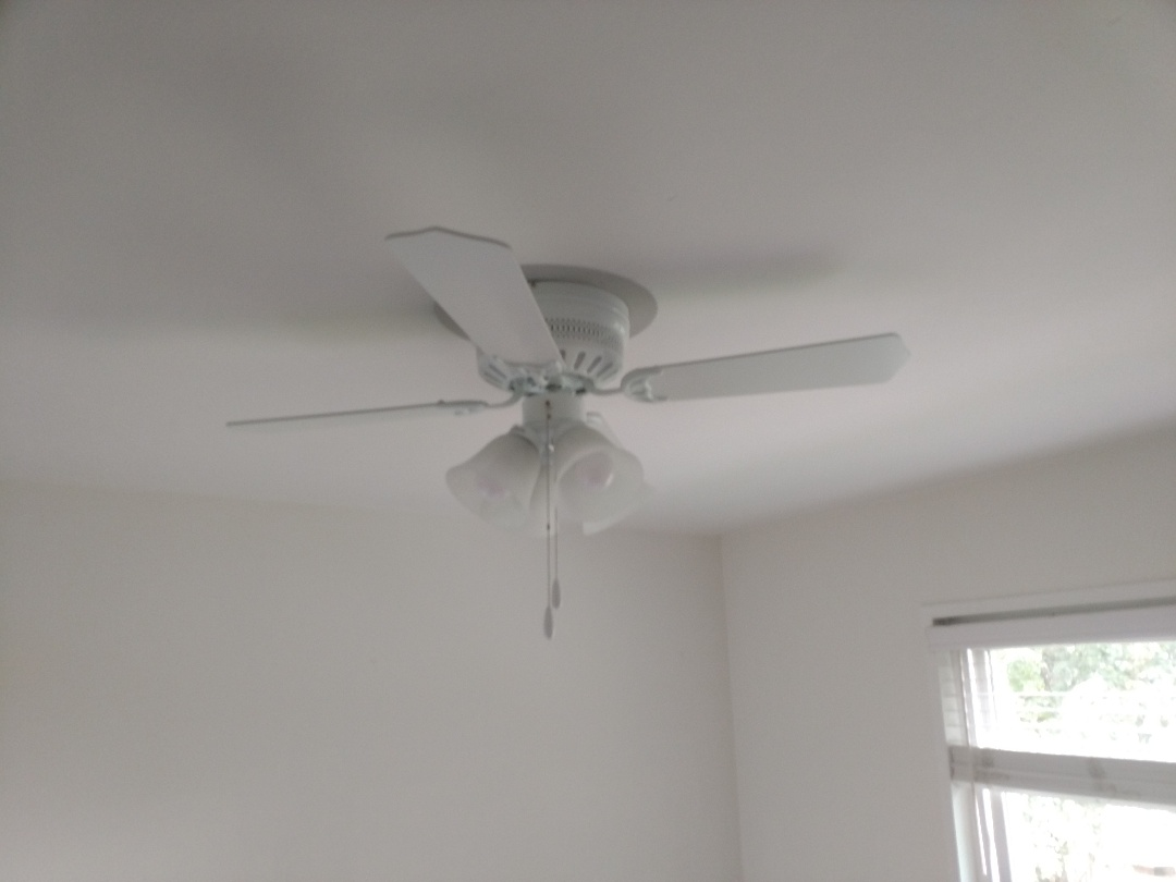 Burien, WA - Installed a new fan in the master bedroom.