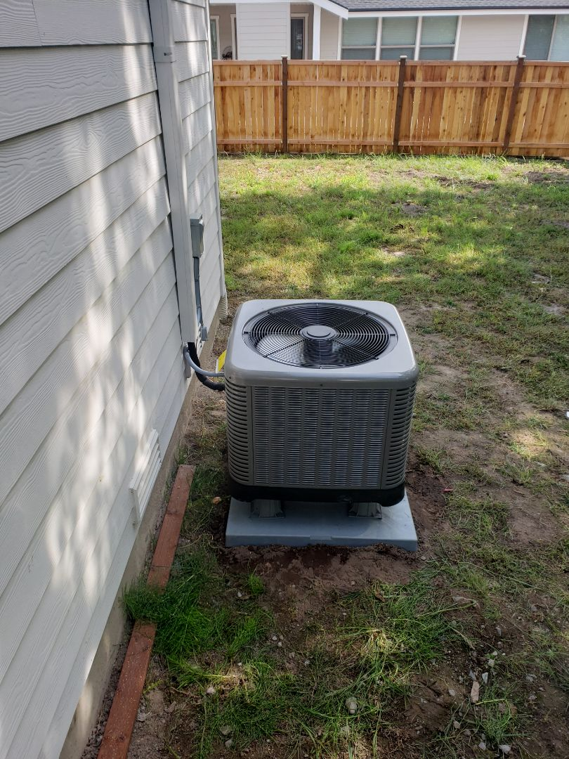 Sumner, WA - Added traditional ac heat pump to existing gas furnace.