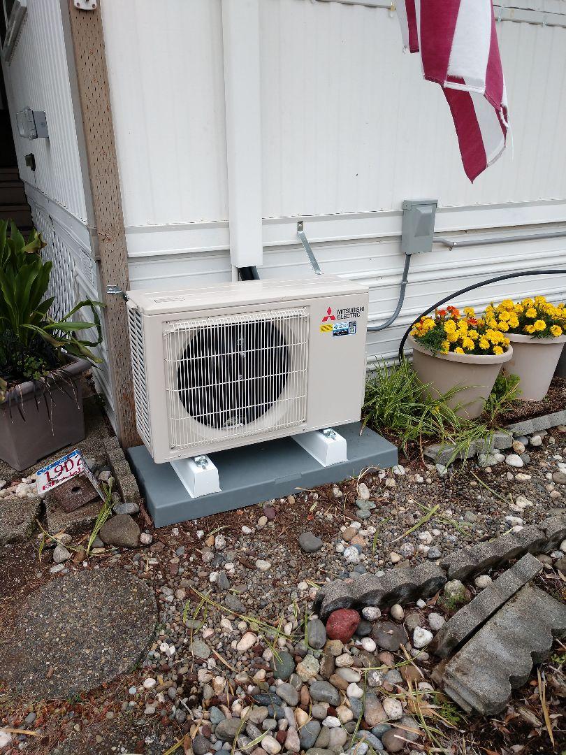 Olympia, WA - Mitsubishi ductless heat pump installation