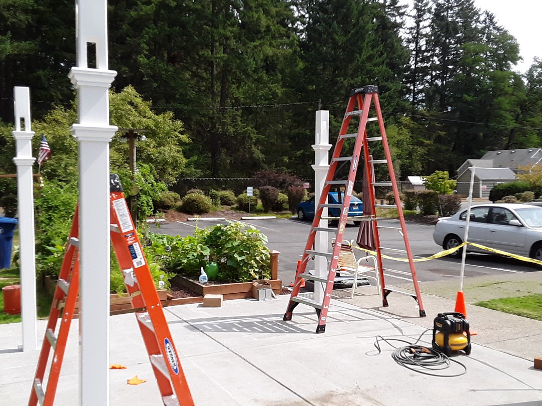 Tacoma, WA - Building a Pergola at Marymount manner