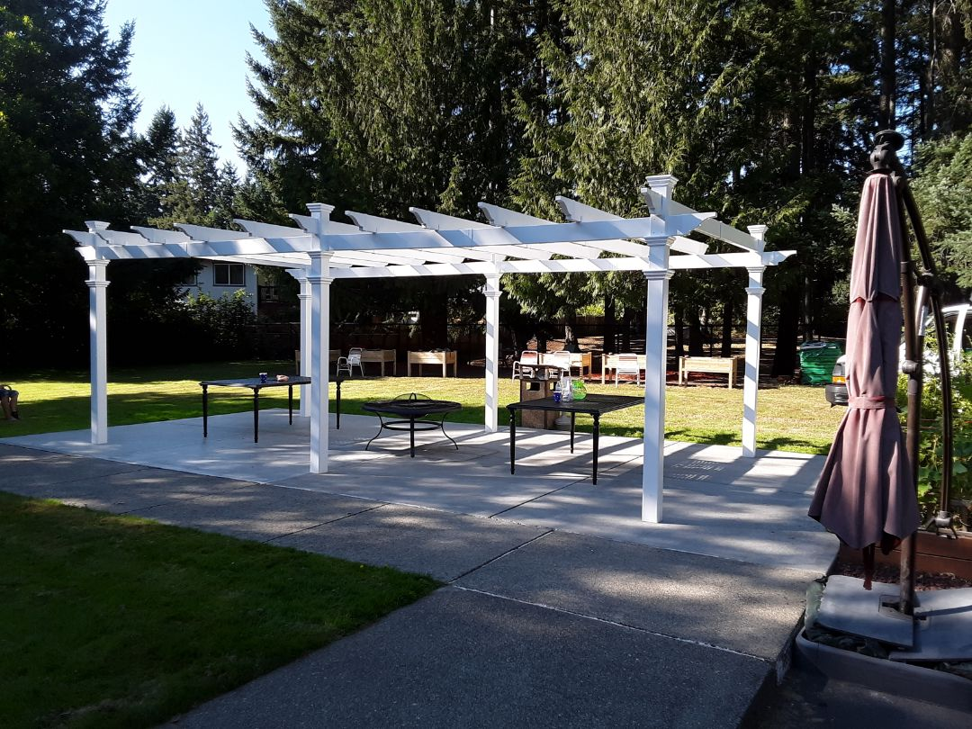 Parkland, WA - Building a pergola for the residents at Marymount Manor