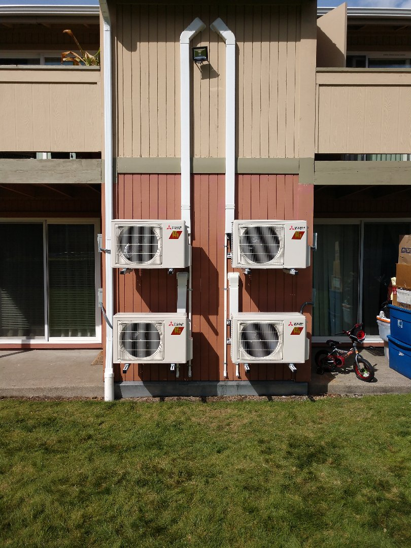 Lakewood, WA - Multi unit Mitsubishi ductless heat pump installation
