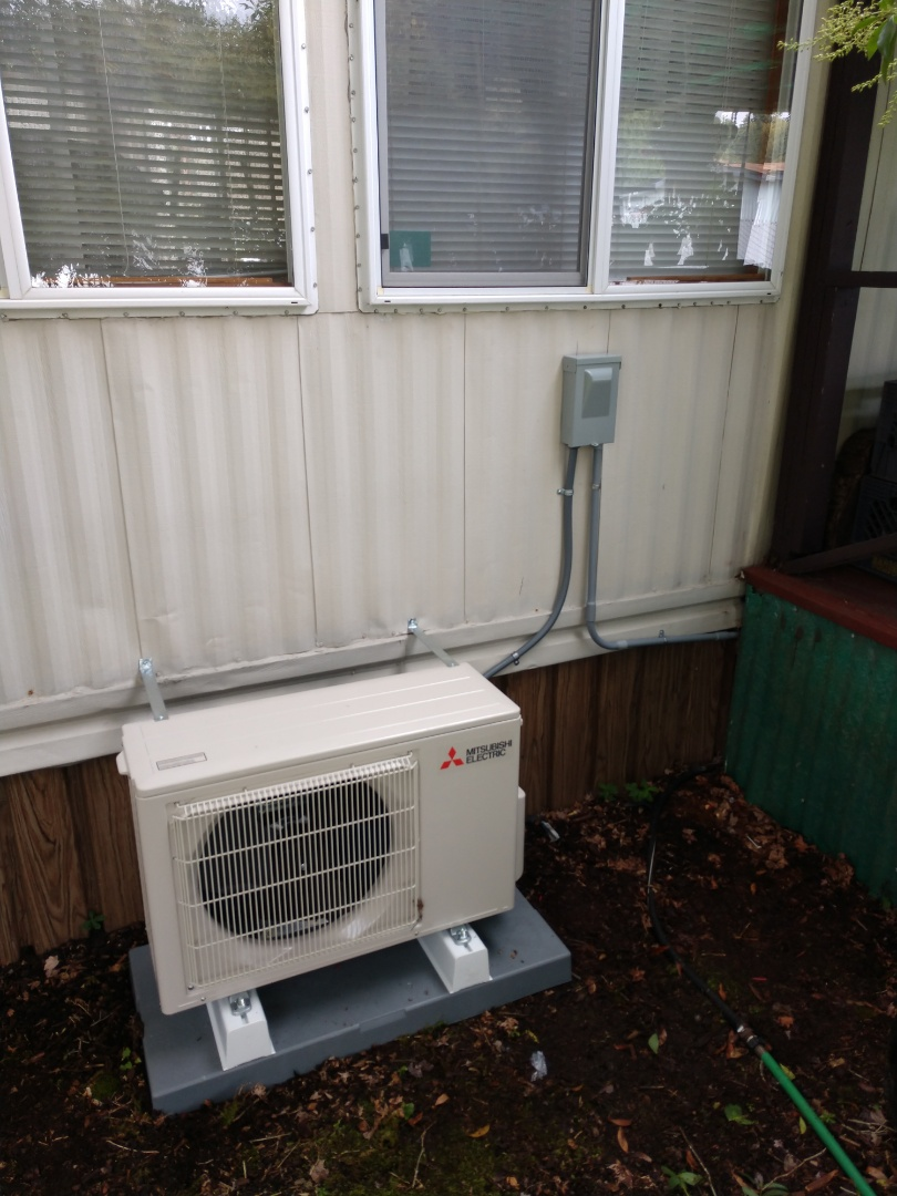 Kent, WA - Mitsubishi ductless heat pump installation