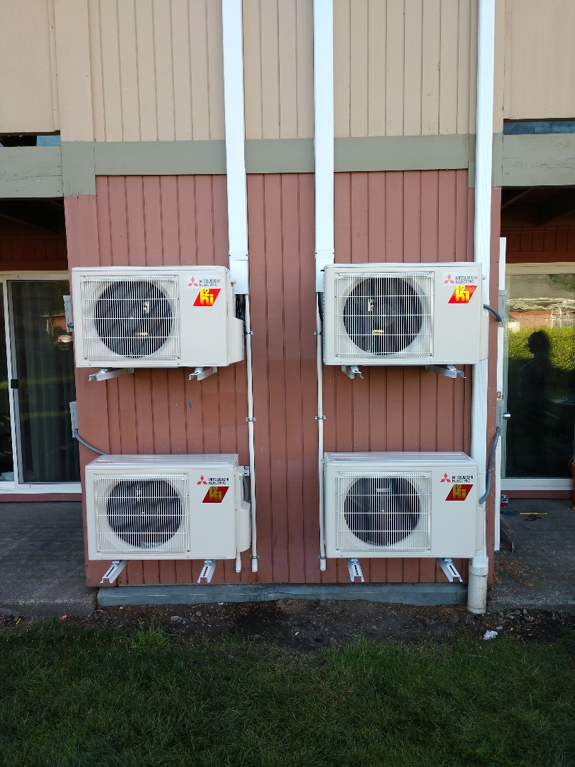 Tacoma, WA - Multi unit Mitsubishi ductless heat pump installation