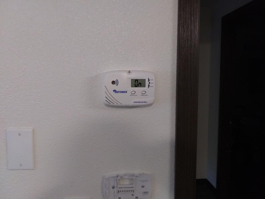 Gig Harbor, WA - C.O. detector with bathroom fan and heat pump installation.