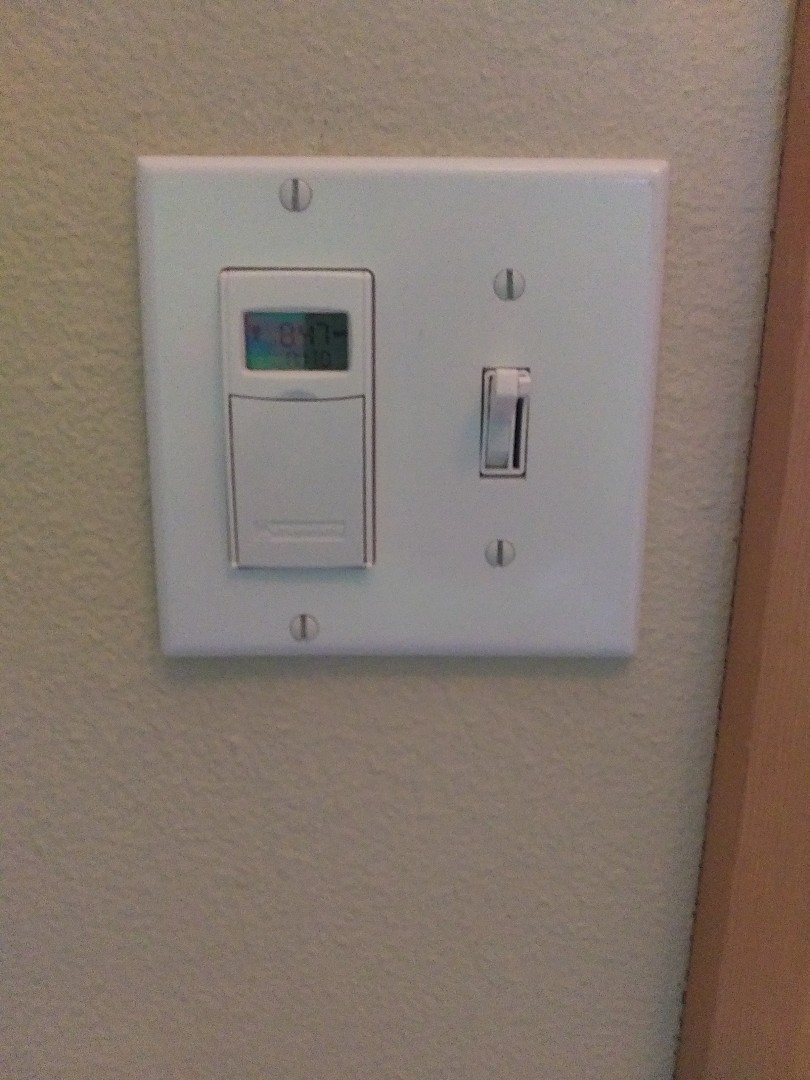 Tacoma, WA - Installed timer switch for outside lighting.