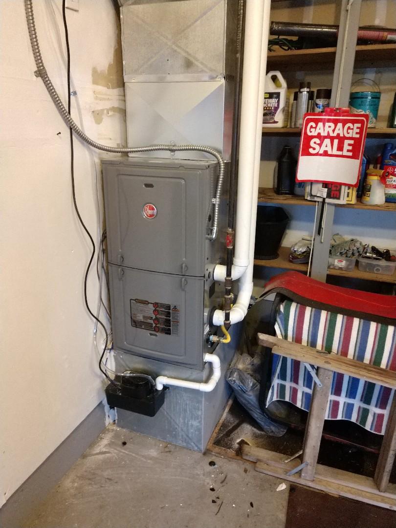 Puyallup, WA - New furnace installation