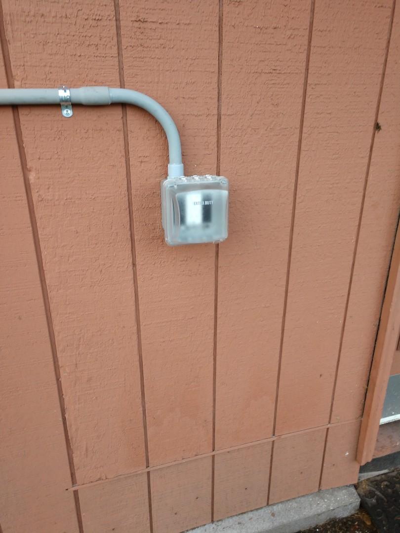 Tacoma, WA - Outside GFCI installation