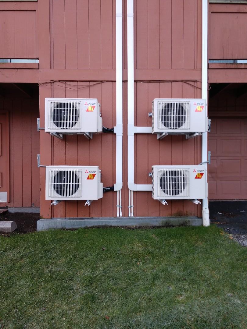 Tacoma, WA - Multi-unit ductless heat pump installation