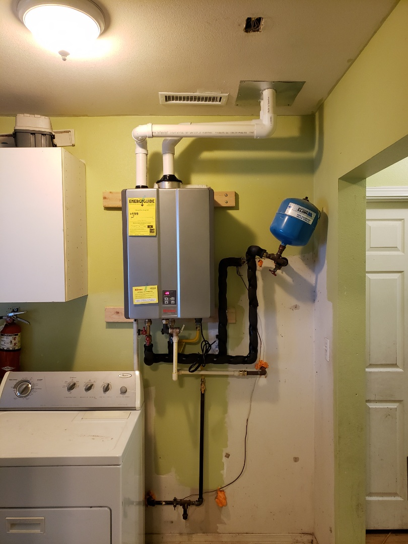 Installing a tankless water heater for more efficiency