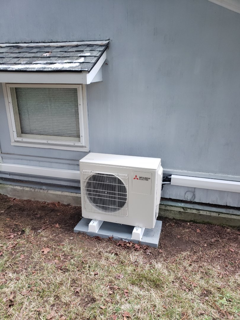 Installing a mitsubishi 2 head ductless system
