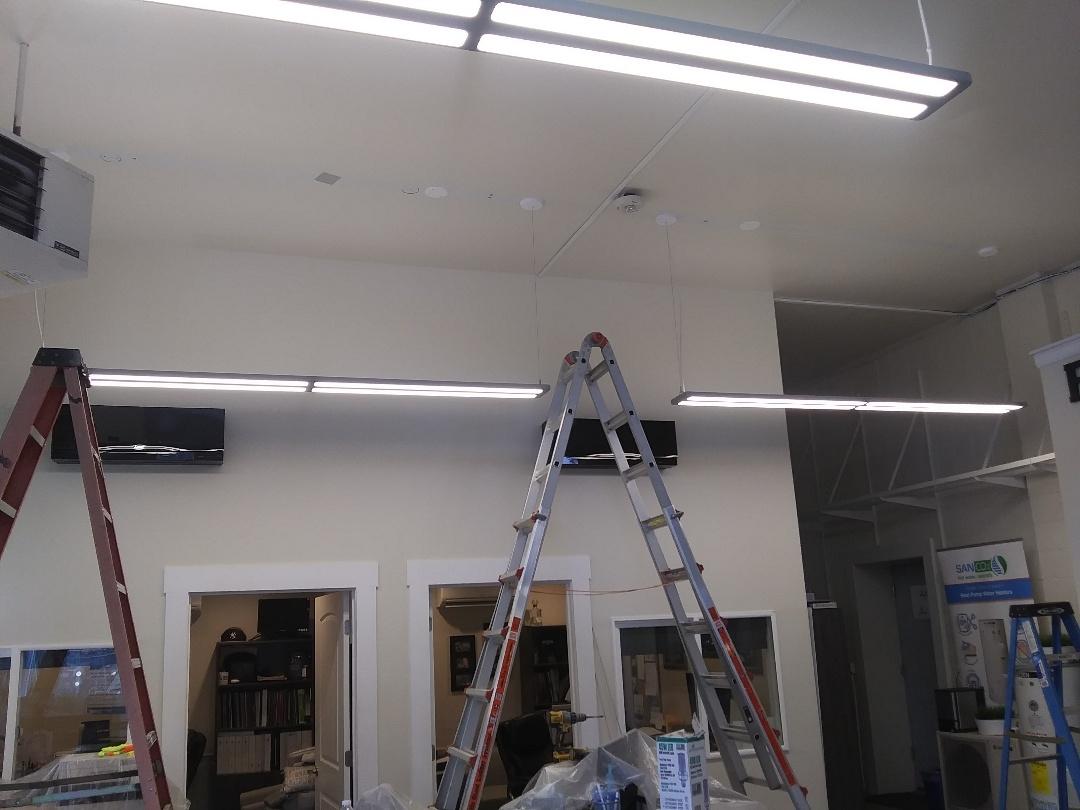 Tacoma, WA - Installing lights.