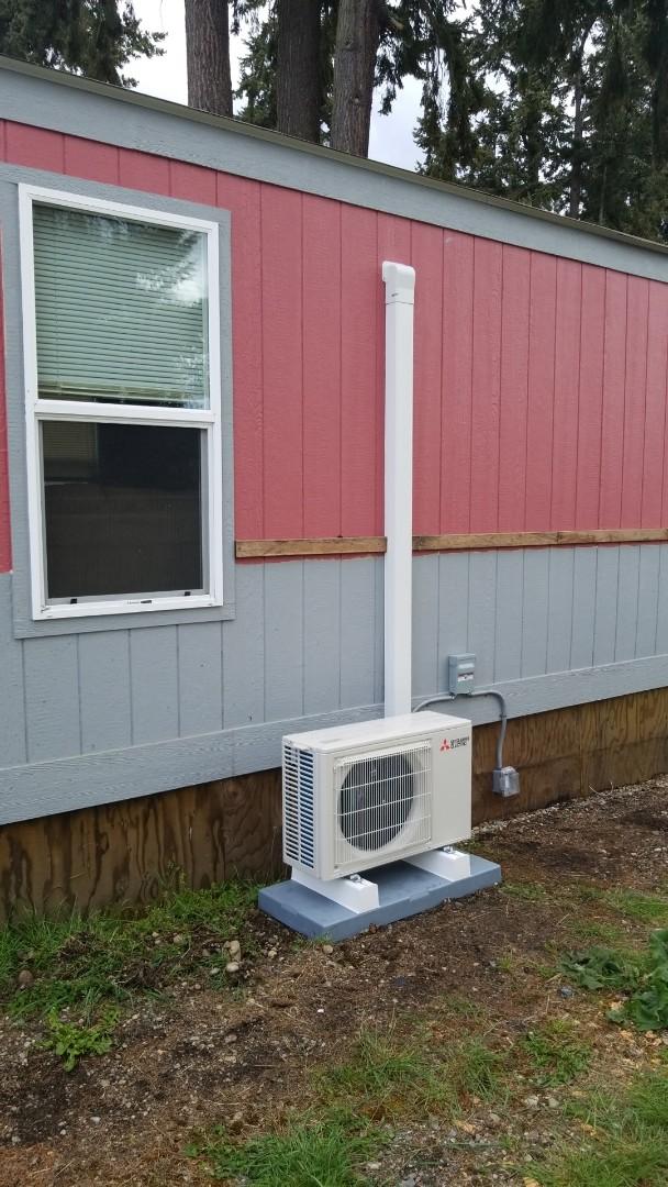 Lakewood, WA - Installing 12k Mitsubishi heat pump