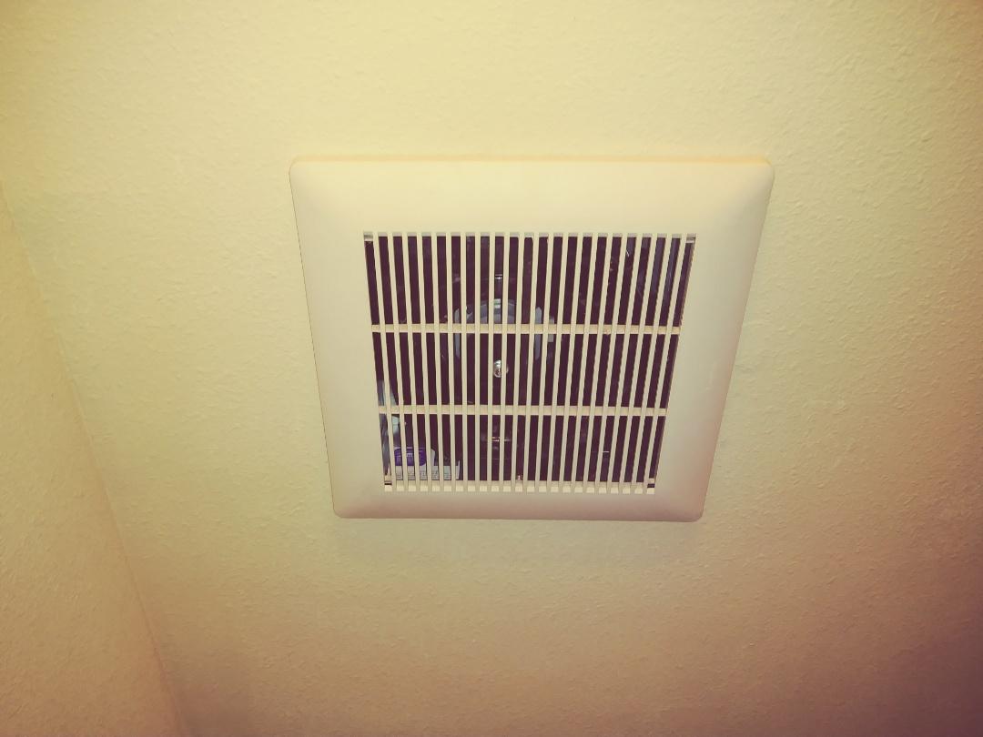 Sumner, WA - Indoor air quality and moisture control. Panasonic whisper select fan w/ whisper control humidistat switch.