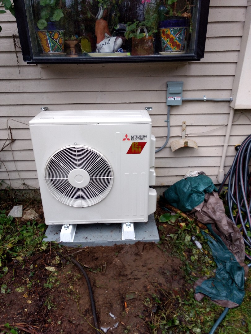 Gig Harbor, WA - Ductless heat pump installation new energy efficient bath fan install and LED lighting