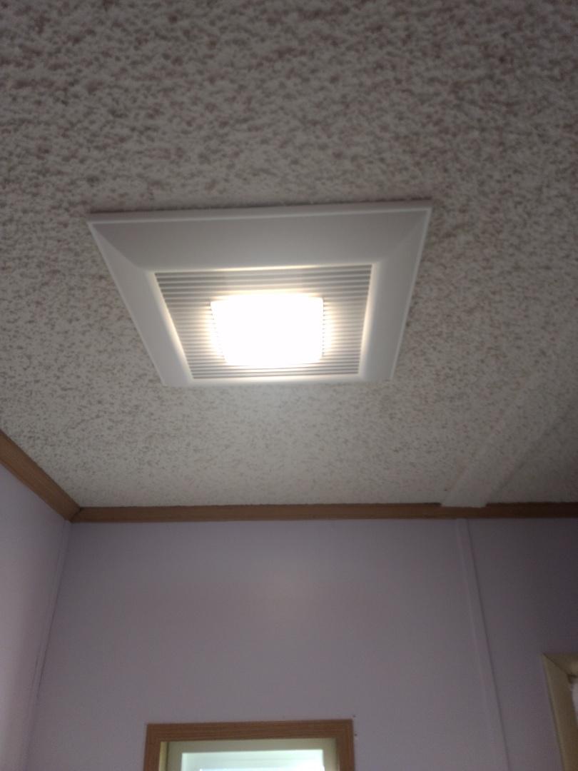 Spanaway, WA - New Panasonic energy efficient bath fan installation