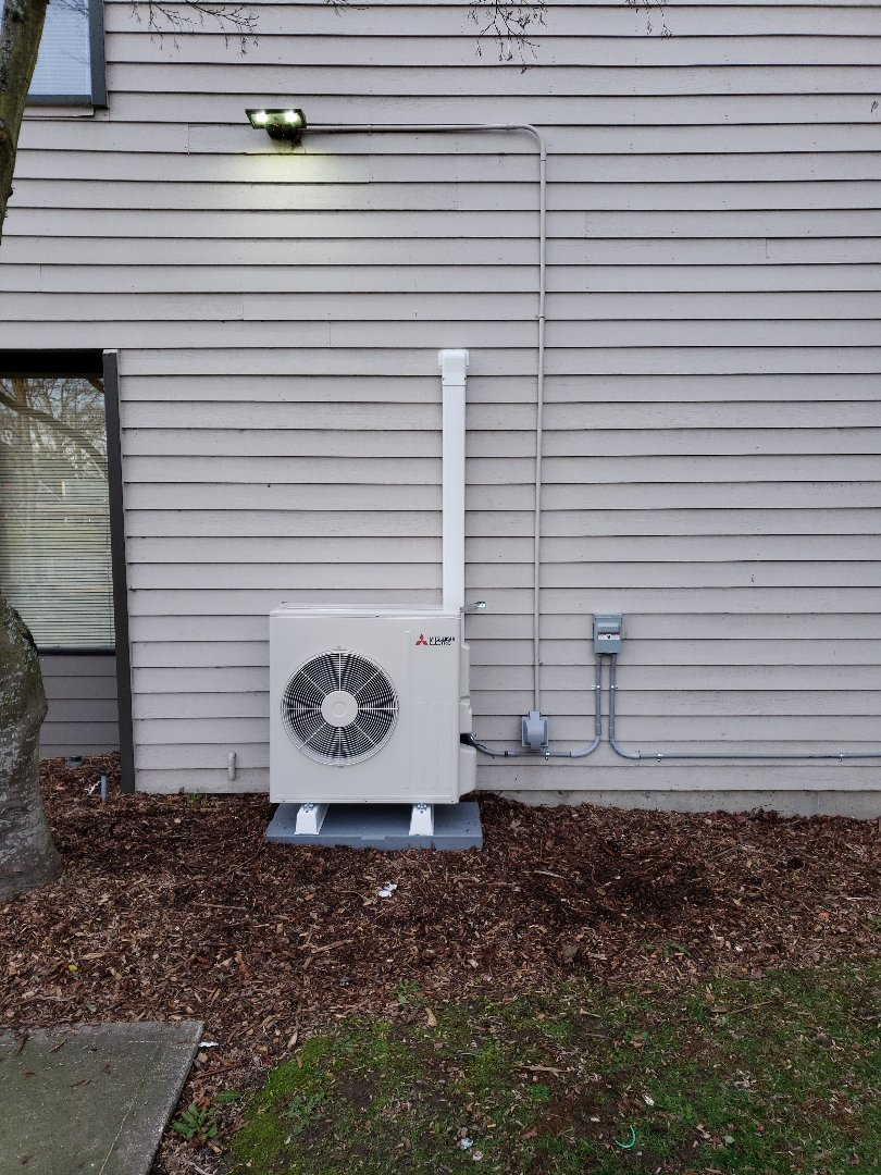 Installing 2 separate 18k Mitsubishi ductless heat pumps in apartment complex community room