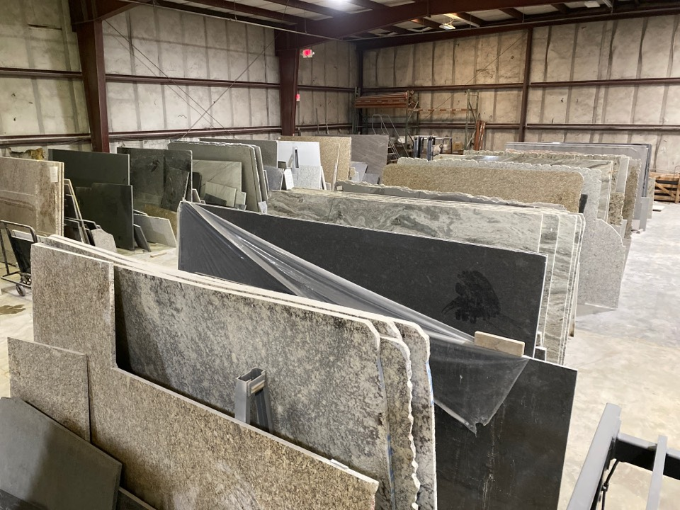 Raleigh, NC - Our Countertop fabrication shop. All granite and quartz are stored inside