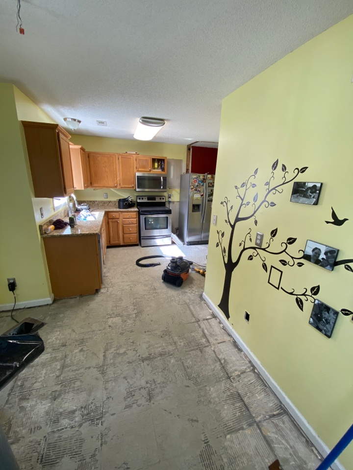 Clients looking for new cabinets and countertops for kitchen remodel
