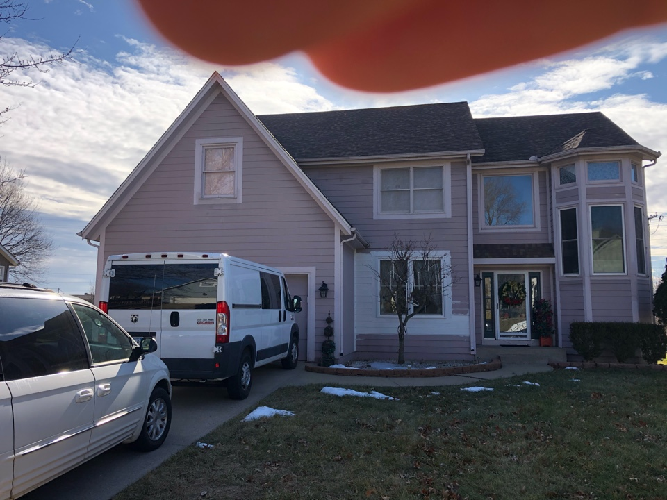 Shawnee, KS - Gutter repair and roof inspection for hail damage