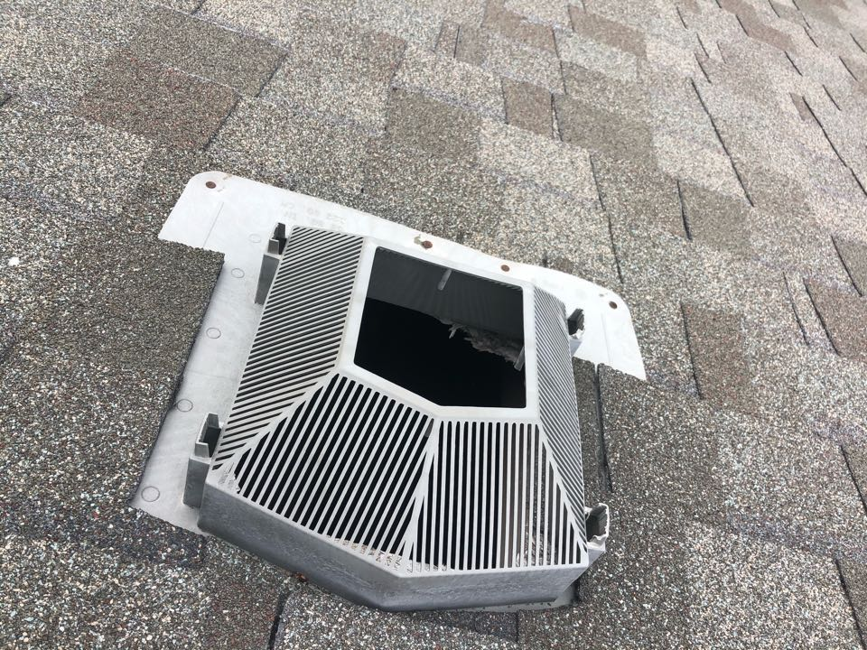 Olathe, KS - Roof vent repair and roof inspection