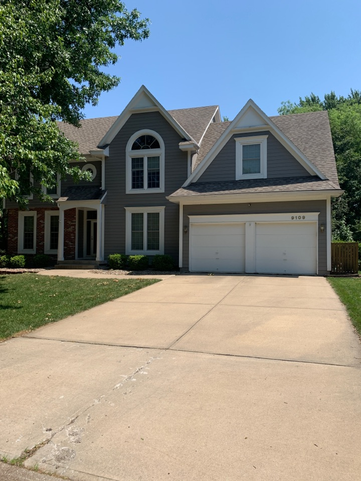 Overland Park, KS - Roof and gutter repairs estimate.