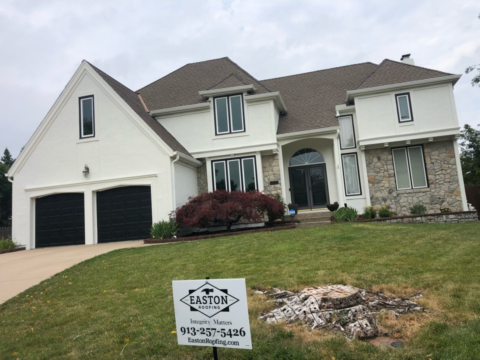 Leawood, KS - Insurance claim approved. Complete roof replacement due to hail damage.