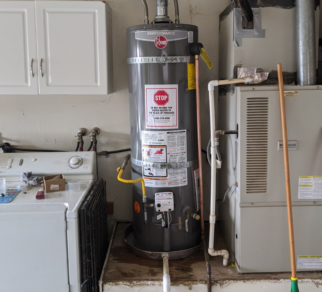 Templeton, CA - 40 gallon natural gas water heater replacement in Templeton