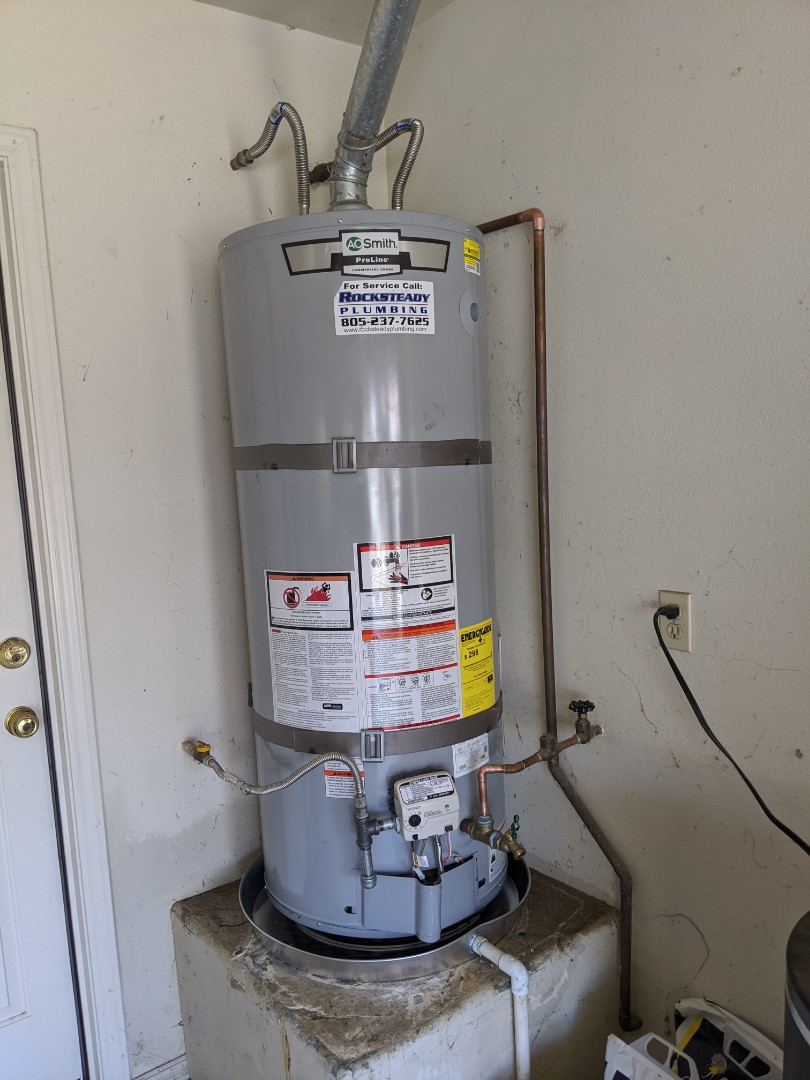 Arroyo Grande, CA - 59 gallon natural gas water heater replacement in Arroyo Grande.