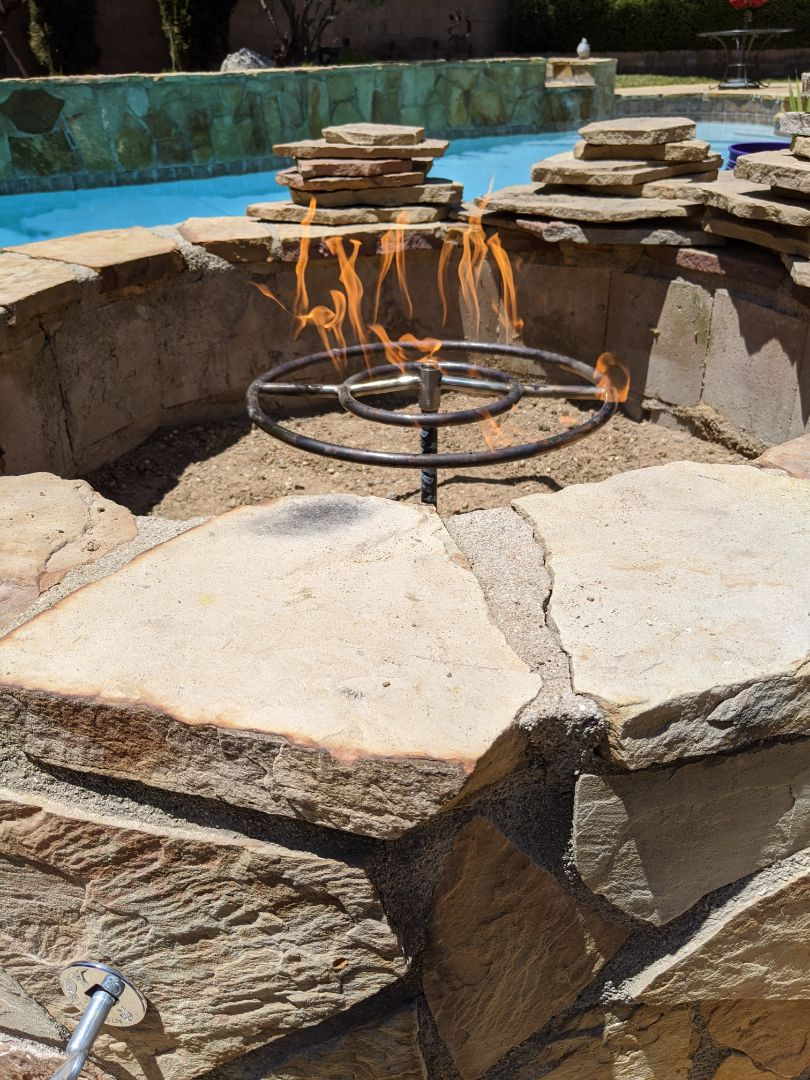 Paso Robles, CA - Gas piping to a fire pit in Paso Robles.