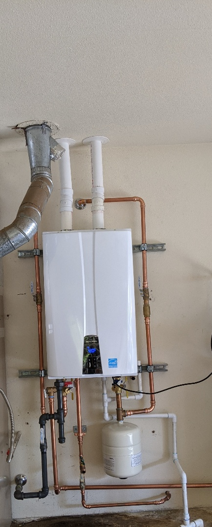 Templeton, CA - Installed Navien MPE240a tankless water heater in Templeton.