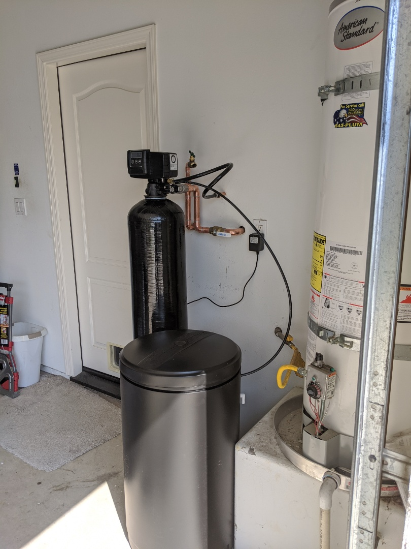 Paso Robles, CA - Water softener installation in Paso Robles.
