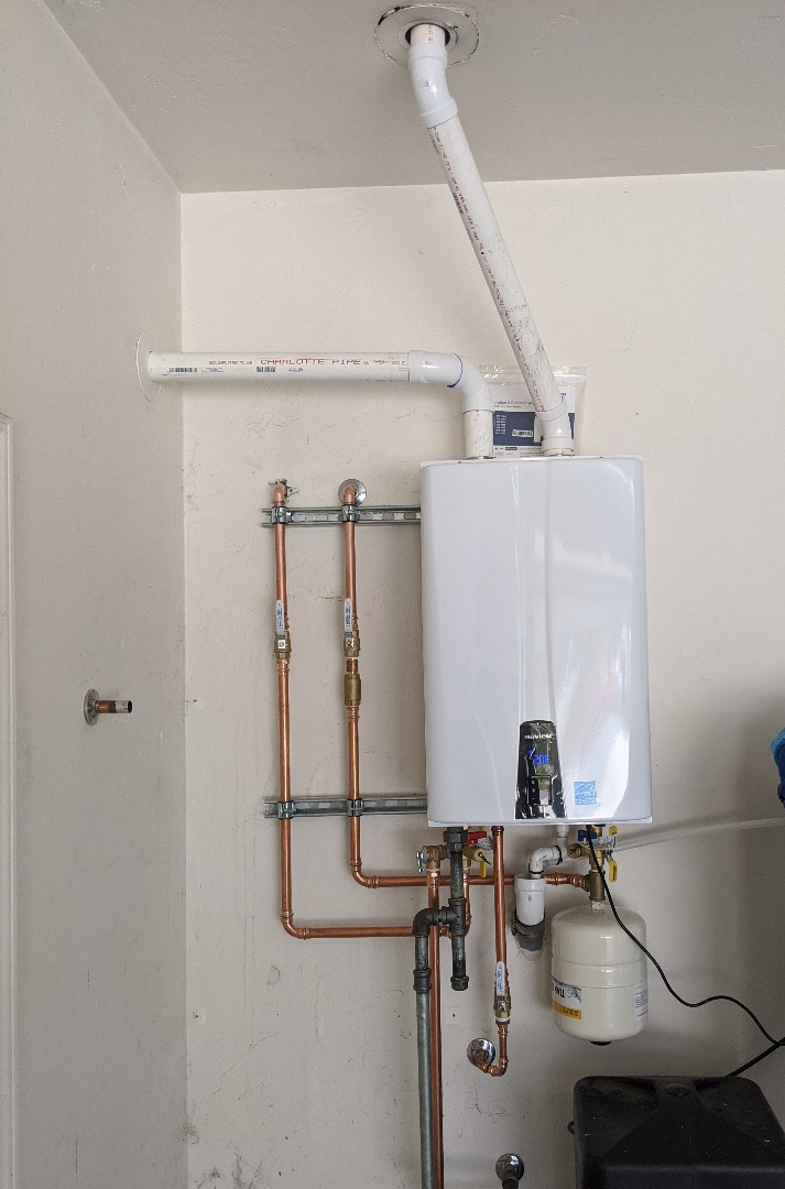 Furnished and installed a new Navien NPE240a tankless water heater in Paso Robles.