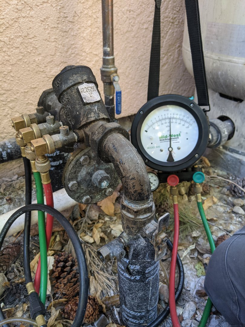 Backflow preventer test in Paso Robles.