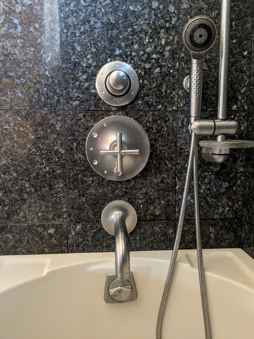 Templeton, CA - Repaired a multi function Kohler tub shower valve in Templeton.