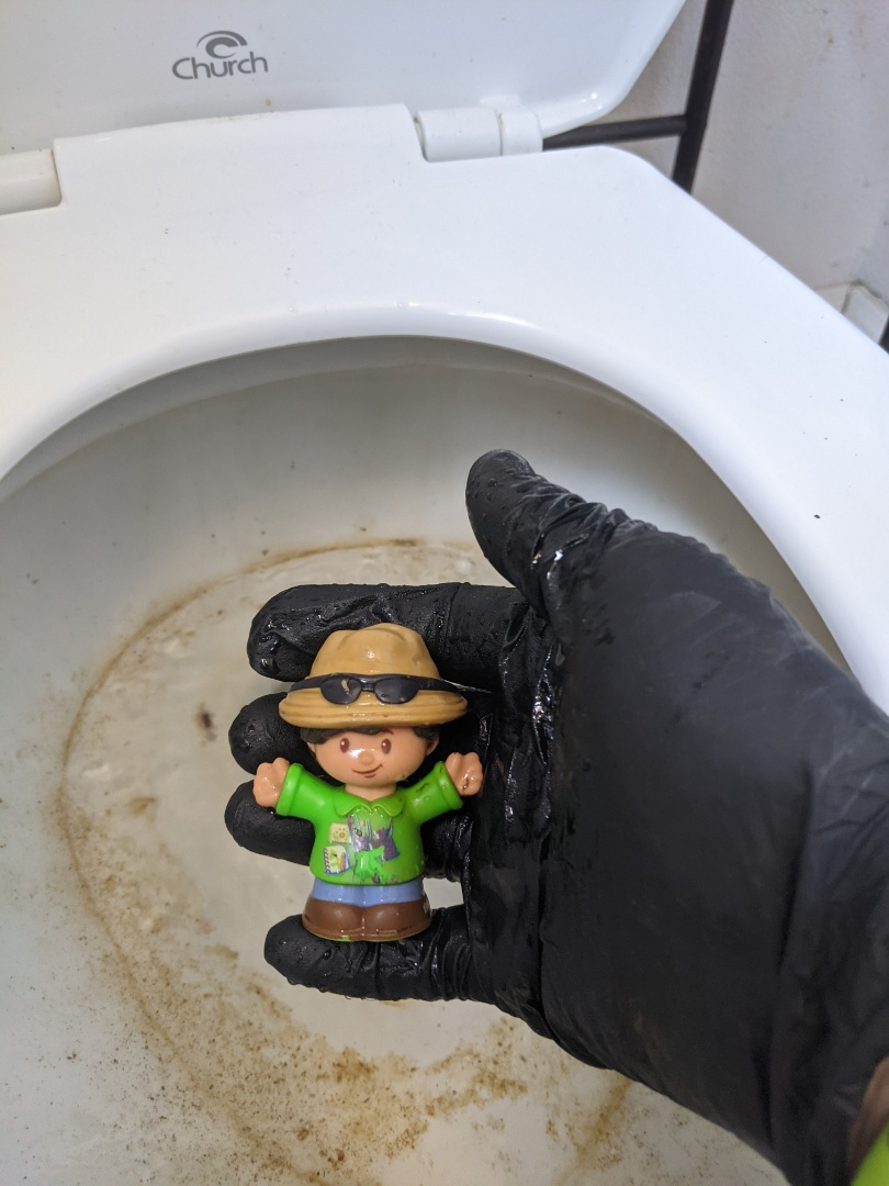 Removed a child's toy from a toilet in Paso Robles.