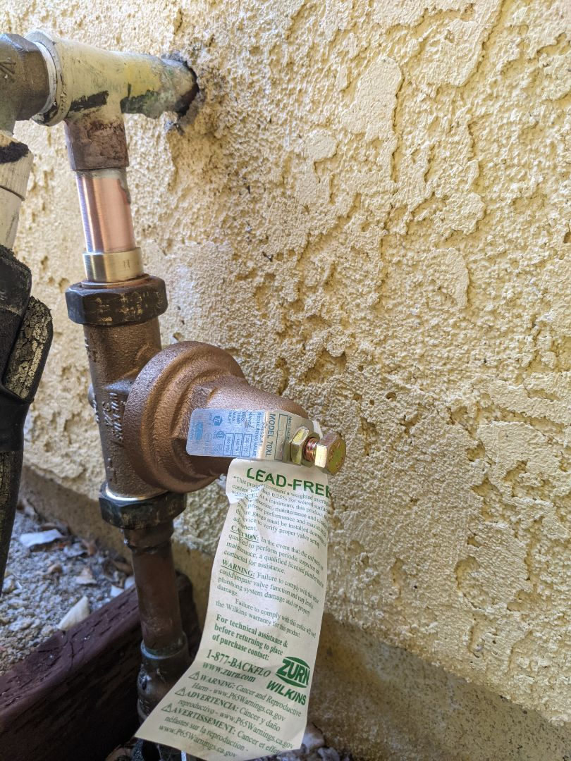 Replaced a failed pressure regulator and temperature and pressure relief valve in Paso Robles.