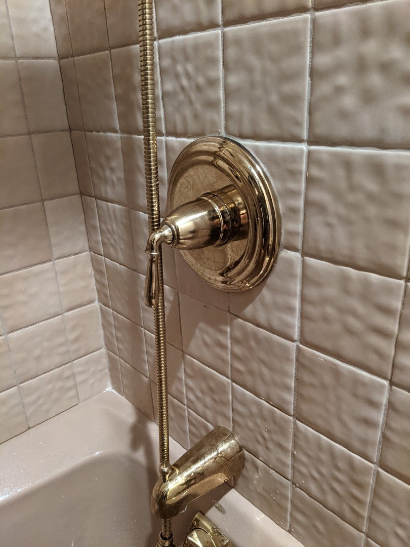 Repaired a leaking Kohler shower valve in Paso Robles.