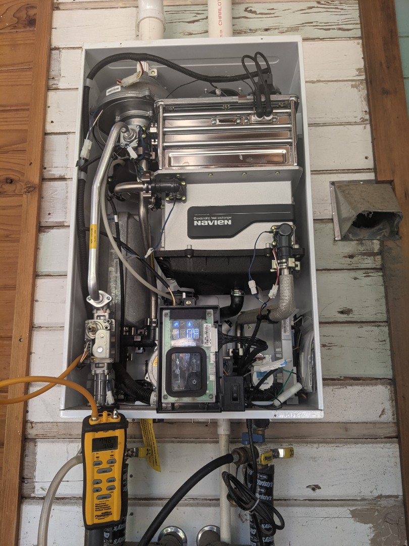 Paso Robles, CA - Annual service and maintenance on a Navien NPE240a tankless water heater in Paso Robles.