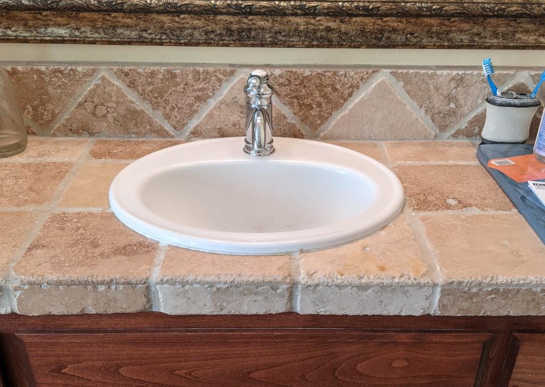Atascadero, CA - Installed a pair of customer supplied Kohler Fairfax bathroom lavatory faucets in Atascadero.
