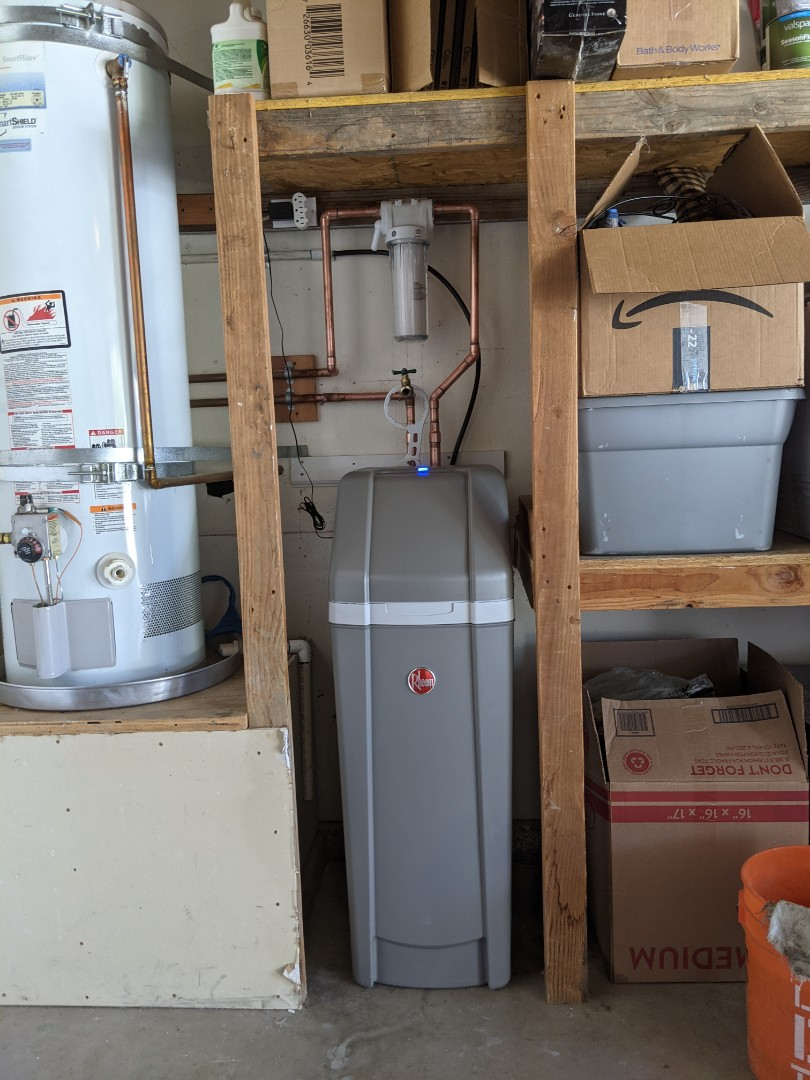 Installed customer supplied water softener in Paso Robles.