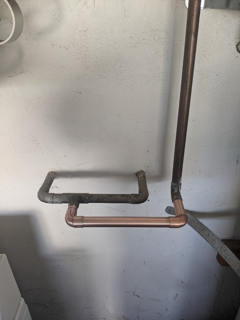 Removed a water softener and reconnected copper piping in Paso Robles