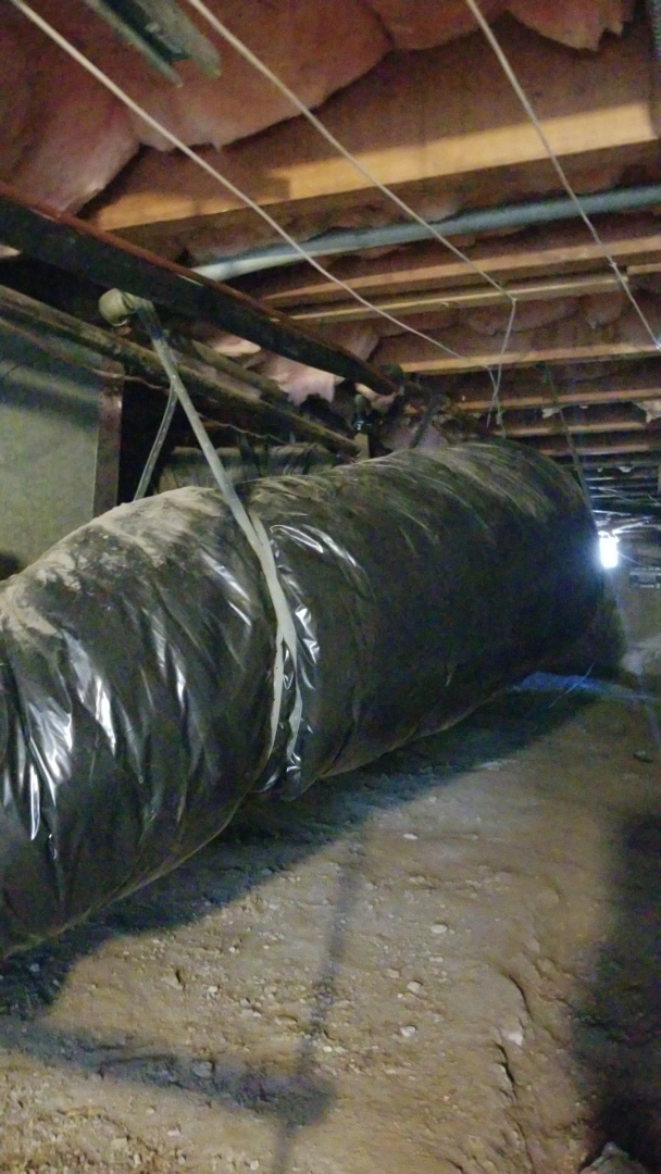 Oakland, CA - Insulation and staples up duct