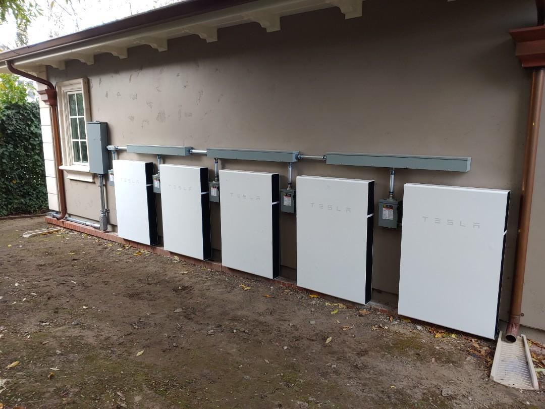Hillsborough, CA - 5 powerwalls in hillsborough.Ca