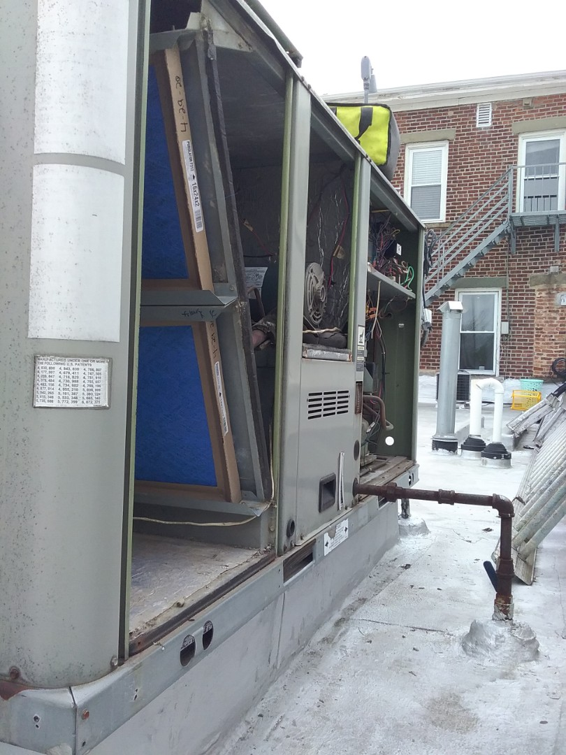 Westfield, NJ - Trane rooftop unit. AC maintenance.